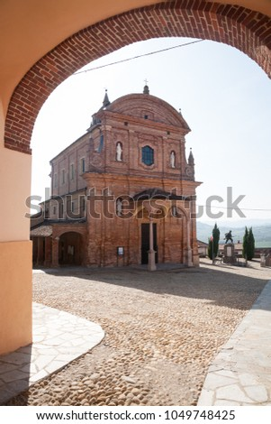 The Saint Stephan Parish Church of the town of Castelnuovo Calcea in the Asti province of the Piemonte region of northern Italy