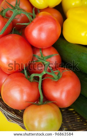 The salad basket - stock photo