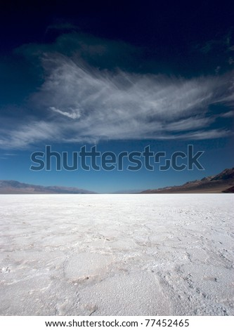 The salt pan in Badwater, Death Valley National Park, California, USA - stock photo