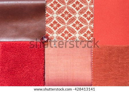 The Sample Of Material Color Boards For Interior Design IdeasRed Schemes