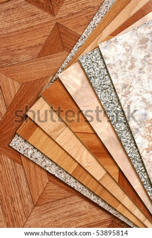 The samples of collection natural linoleum - stock photo