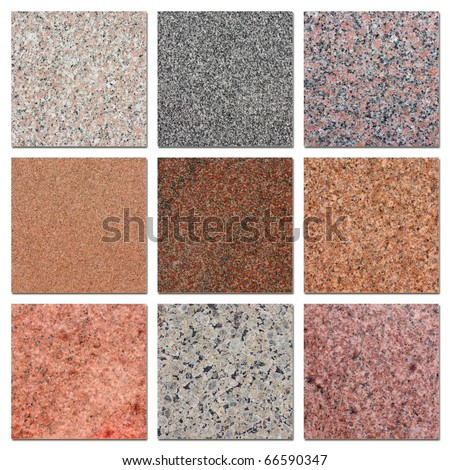 The samples of egyptian granite. - stock photo