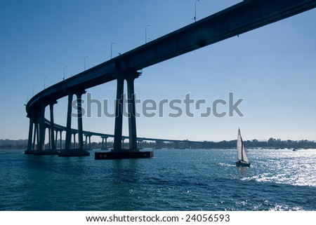 The San Diego-Coronado Bridge - stock photo