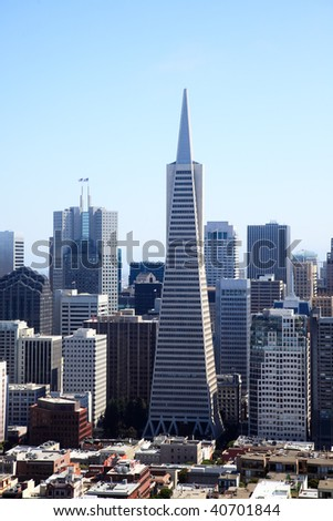 The San Francisco skylines in California USA - stock photo