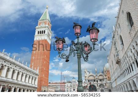 The San Marco square in Venice, Italia. - stock photo