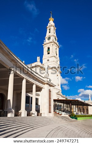 The Sanctuary of Fatima, which is also known as the Basilica of Our Lady of Fatima, Portugal - stock photo
