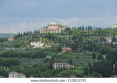 The Sanctuary of Nostra Signora di Lourdes at Verona, Italy - stock photo