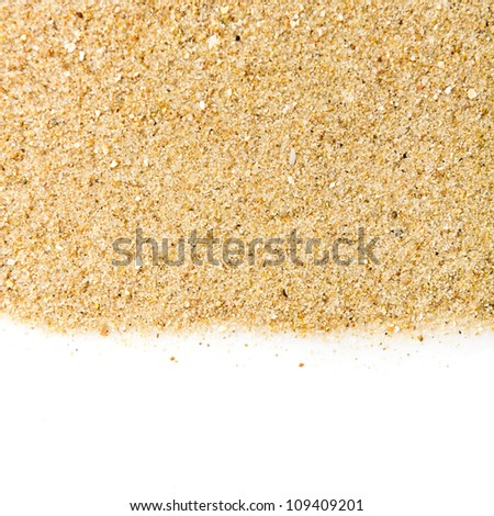 The sand isolated on white background - stock photo