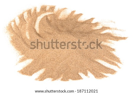 The sand isolated on white background close-up - stock photo