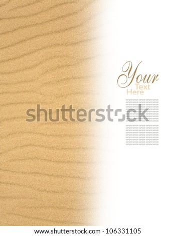 The sand scattering  on white background - stock photo