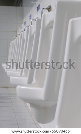 The sanitary ware for gentle men of comfort station - stock photo