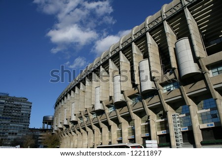 The Santiago Bernabeu stadium in madrid, Spain - stock photo