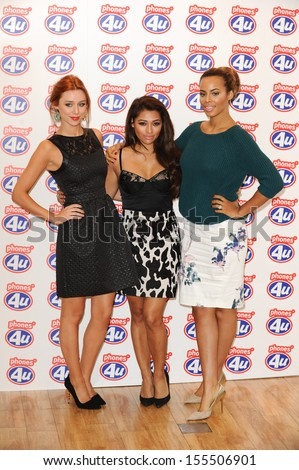 The Saturdays launch the new iPhone 5S and 5C at Phones 4U Oxford Street, London. 20/09/2013 - stock photo