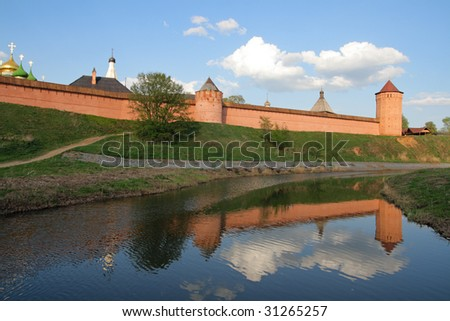 The Saviour Monastery of St. Euthymius is a monastery in Suzdal, Golden Ring. Russia. - stock photo