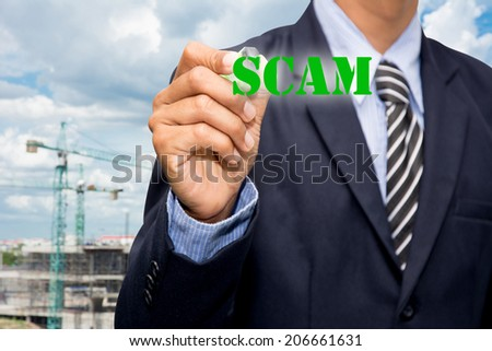 The SCAM Business  - stock photo