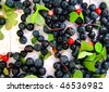 The scattering of forest berries - stock photo