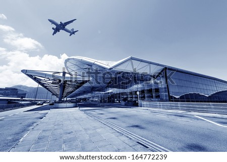 the scene of airport building in china - stock photo
