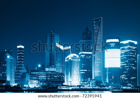 the scene of shanghai china. - stock photo