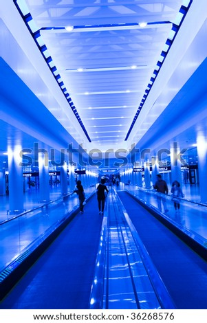 the scene of the airport pudong shanghaai china. - stock photo