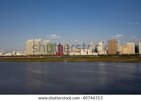 the scene of the city china. - stock photo
