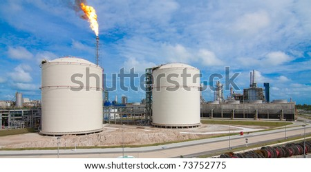 The scenery of  the Propylene plant int the industrial estate - stock photo