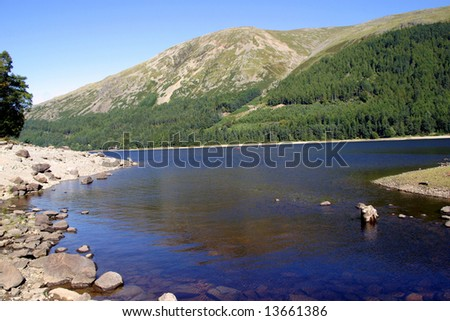 The scenery of Ullswater in the Lake District, Cumbria (England) - stock photo
