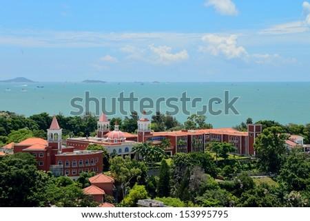 The scenery of Xiamen Gulangyu island  - stock photo