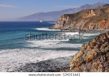 The scenic Big Sur coastline, California
