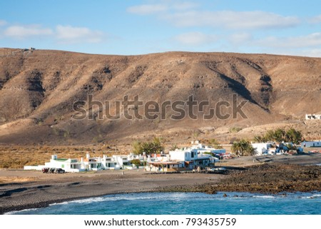The scenic fishing village called Pozo Negro on the island of Fuerteventura, one of the Spanish Canary Islands