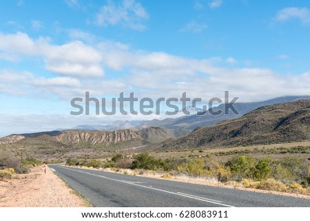 The scenic road R62 between Calitzdorp, and Ladismith in the Western Cape Province