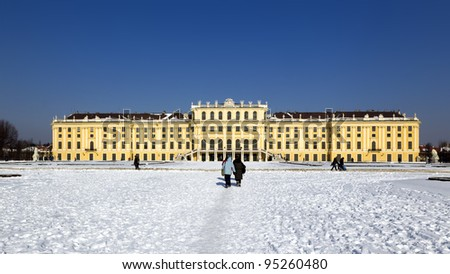 The Schönbrunn Castle in Vienna - stock photo
