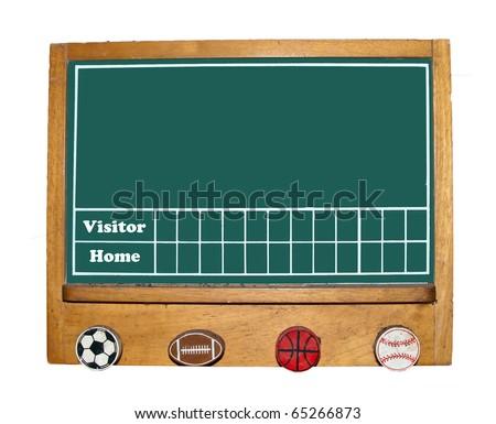The Scoreboard isolated on white background - stock photo