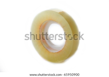 The scotchtape isolated on white background - stock photo
