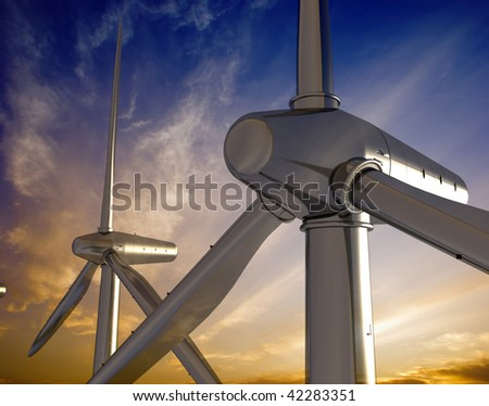The screw of the generator of a wind - stock photo