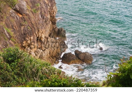 The sea and cliffs