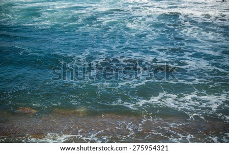 The sea and the waves - stock photo