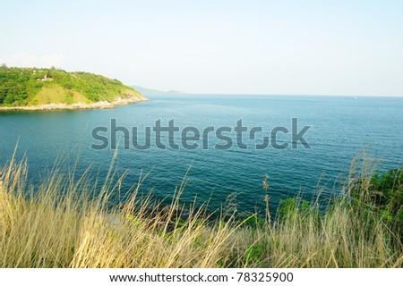 The sea at Laem Promthep Phuket thailand - stock photo