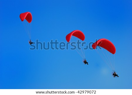 The sea glider over the movement, - stock photo
