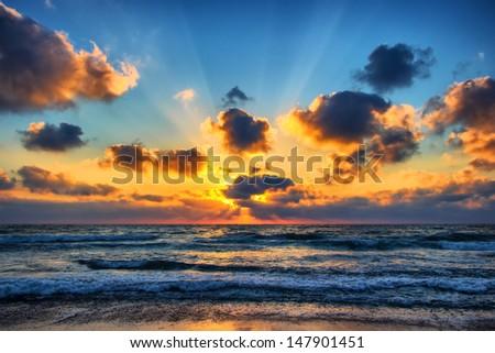 The Sea Heaves - stock photo