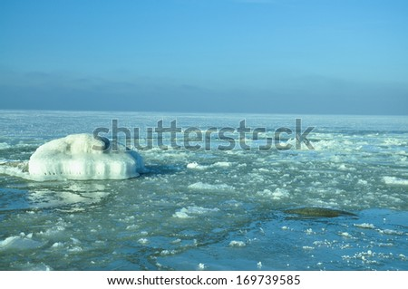 the sea it is covered with ice