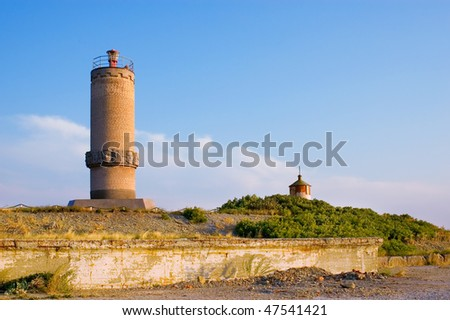 the sea lighthouse - stock photo