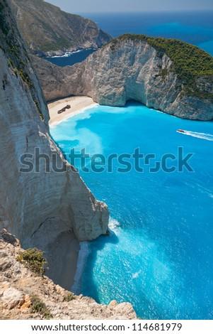 The sea, Mountains, Greece, - stock photo
