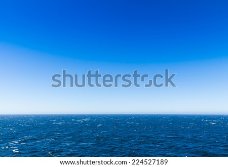 The sea view with blue sky from the cruise in Alaska - stock photo