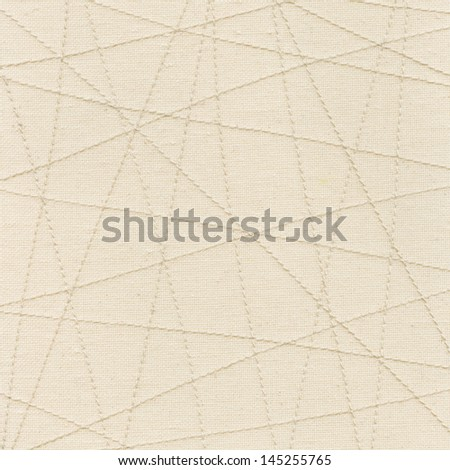 The seams on fabric - stock photo