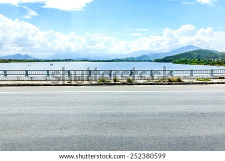 The seaside highway - stock photo