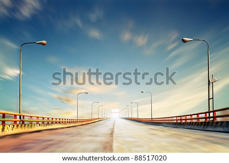 The second Yellow River bridge in China, located in Shanxi province - stock photo