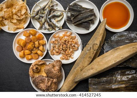 The secret of the soup stock taste of Japan(dashi) - stock photo