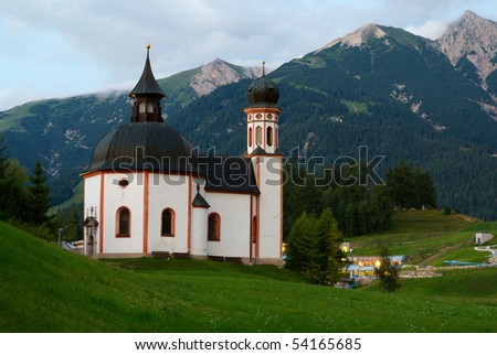 The Seekirchl, a small church located in Seefeld, Austria