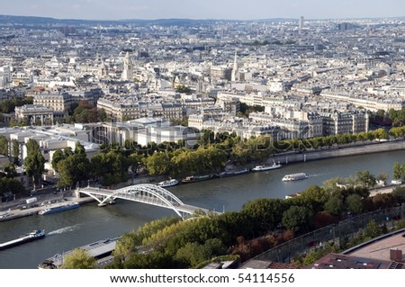 The Seine is a slow-flowing major river  and commercial waterway within the regions of Ile-de-France and Haute-Normandie in France. It is a tourist attraction - stock photo