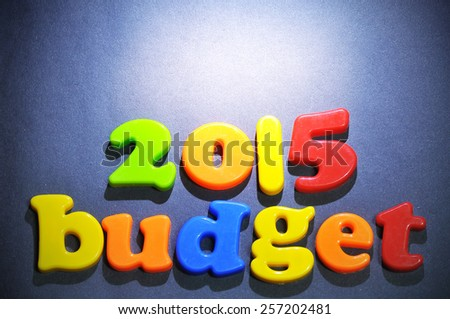 The selective focus of 2015 budget  - stock photo